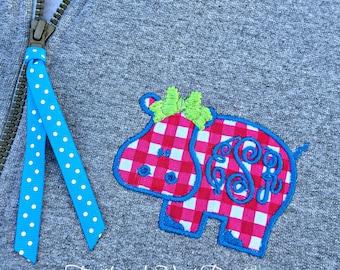 Critter Monogram YOUTH Quarter Zip Sweatshirt - Youth Monogram 1/4 Zip Sweatshirt - Monogram Quarter Zip Pullover - Monogrammed Quarter Zip