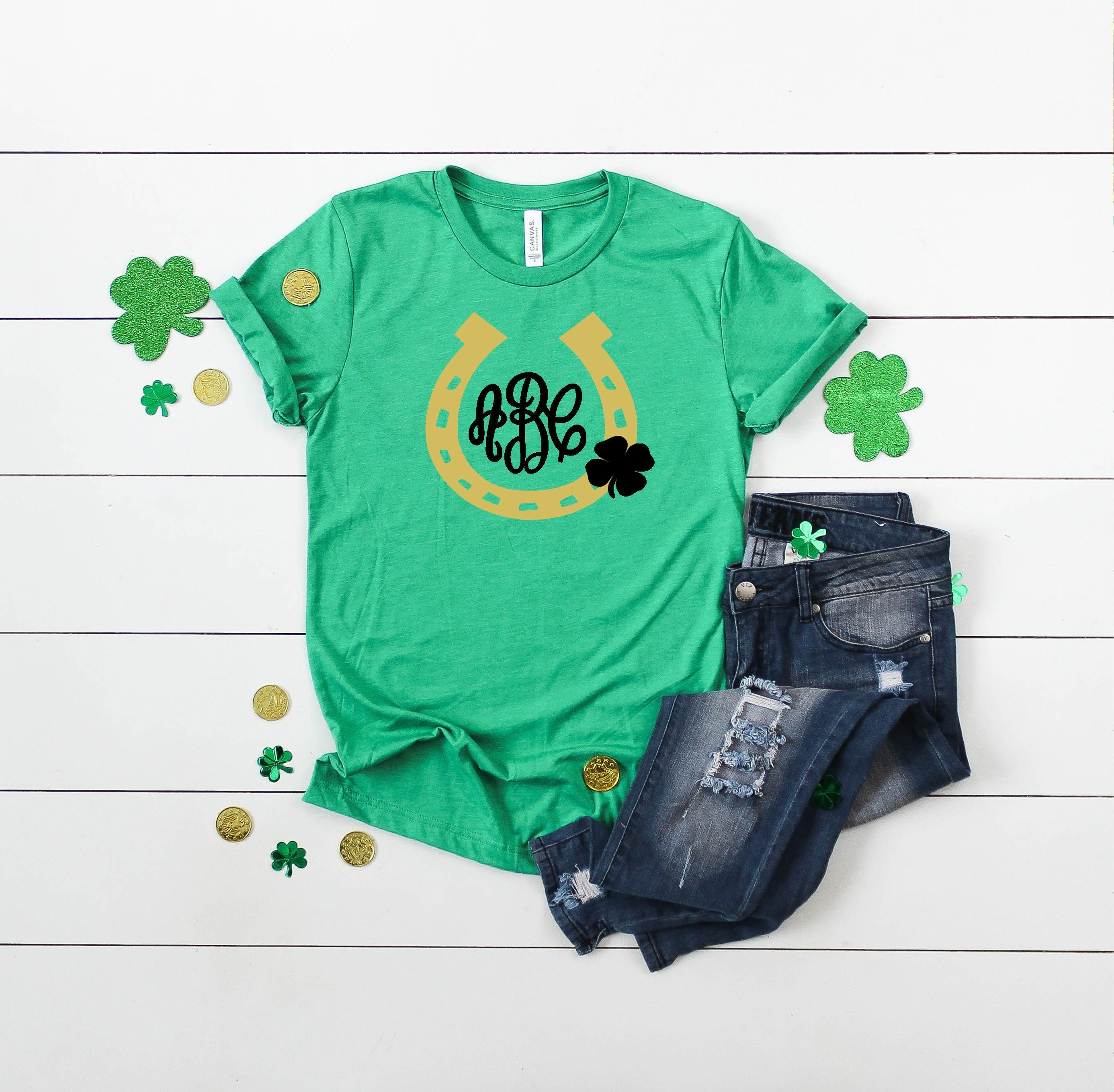 a57fc4c2e Monogram Horseshoe St. Patrick's Day Short Sleeved Shirt ...