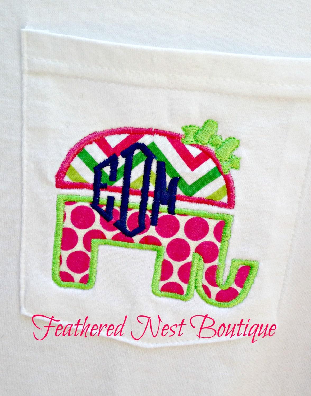 4f22a439 Monogram GOP Elephant Tee Short Sleeved Comfort Colors - Preppy Elephant  Shirt- Monogrammed Elephant Shirt - GOP Republican Elephant tshirt
