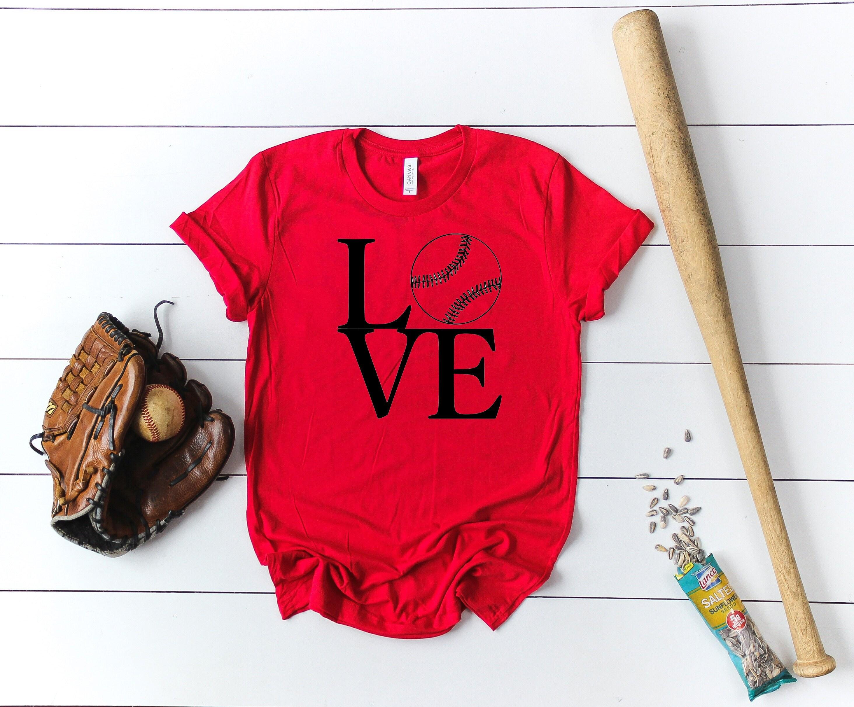 b12887a5b Softball Love Short Sleeved Shirt - Baseball Love Short Sleeve Tee
