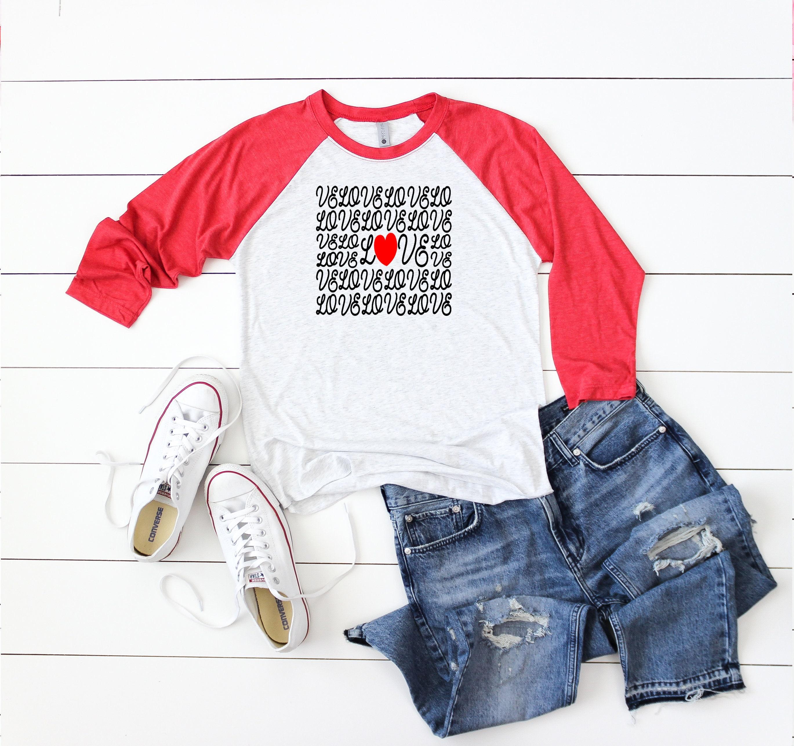 8e4678e1 Love Valentine Raglan Baseball Shirt - Valentine's Day Shirt ...