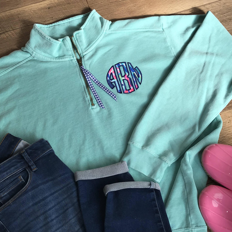 Monogram 1/4 sweatshirt pullover - 13 Popular Colors xL8IFjf