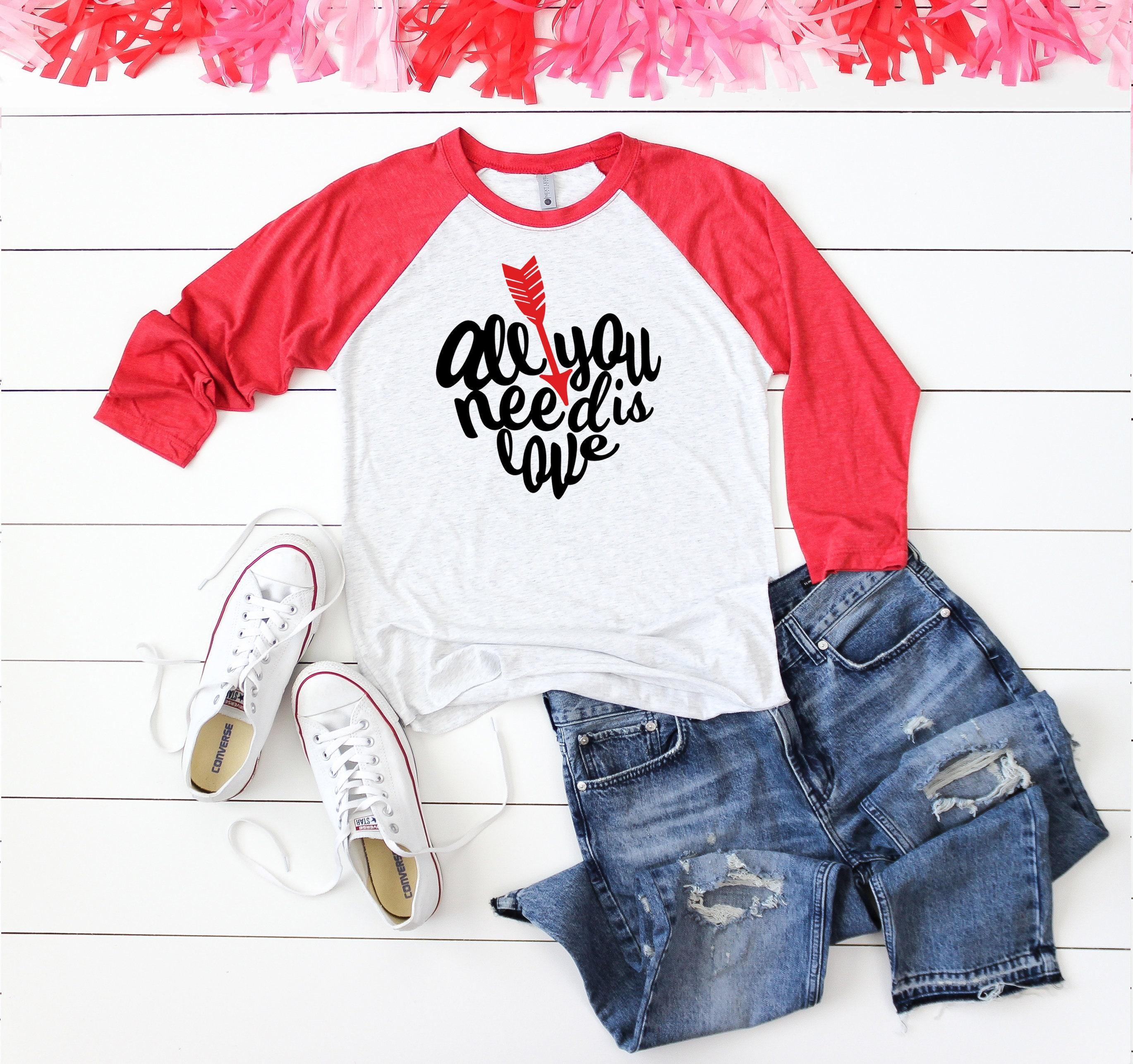 6c6bf119 All You Need is Love Raglan Baseball Shirt - Valentine's Day Shirt ...