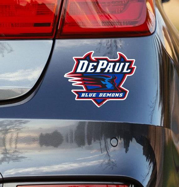DePaul Blue Demons NCAA Decal Sticker Car Truck Window Bumper Laptop Wall
