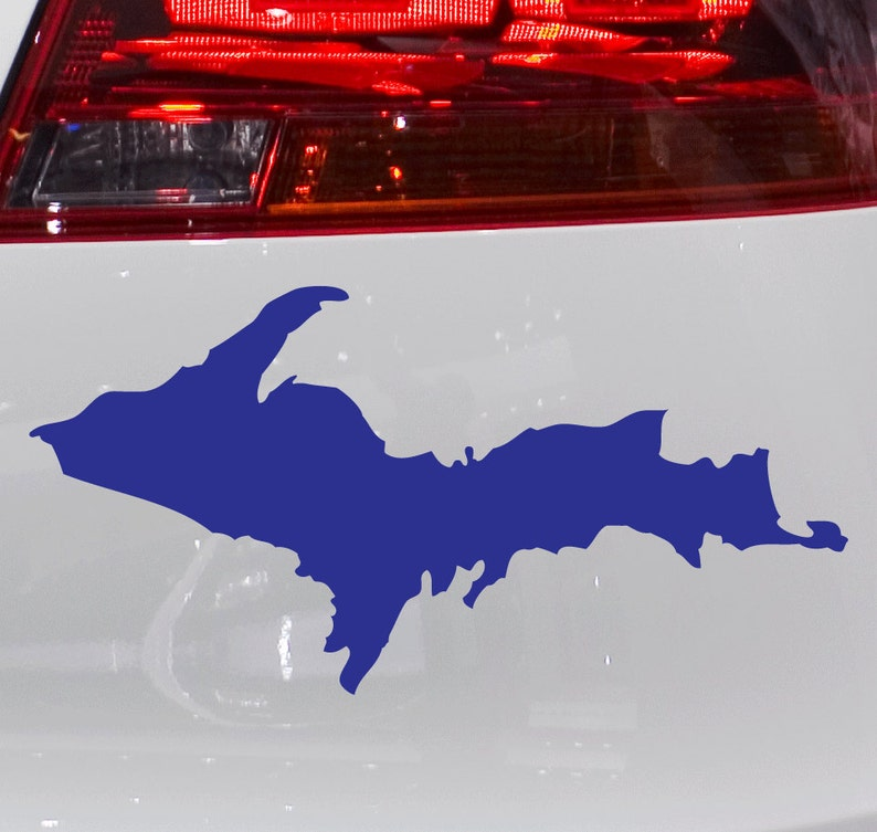 Upper Peninsula U P  Michigan Vinyl Car Decal Bumper Sticker FREE SHIPPING