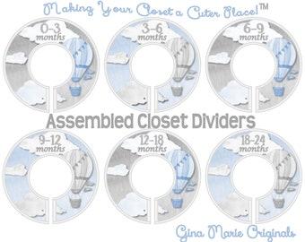 Baby Closet Dividers Clothes Dividers Closet Organizers Gray Hot Air Balloons