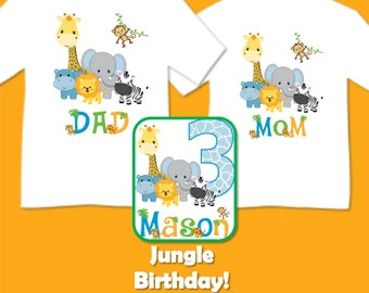 Family Matching Jungle Safari Birthday Party T-shirts Shirt Baby Bodysuit  Mom Dad Baby Kids Boy Girl Siblings Big Little Brother Sister 3e0fd0b051