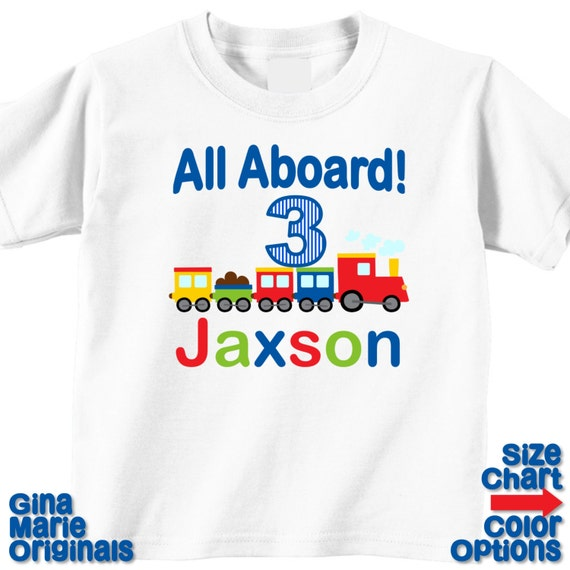 Personalizado pequeño muchacho todos a bordo cumpleaños tren  fcb14cc0d62