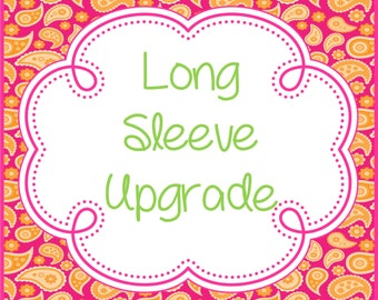 Long Sleeve Upgrade for ADULT T-shirts - See Size Chart for Measurements