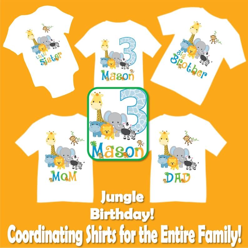 f3fc011cf Family Matching Jungle Safari Birthday Party T-shirts Shirt | Etsy