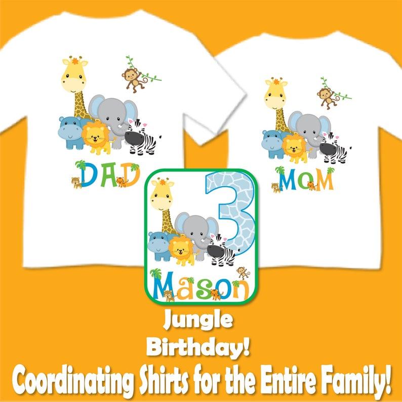 102dd0d58 Familia juego selva Safari cumpleaños fiesta Camisetas