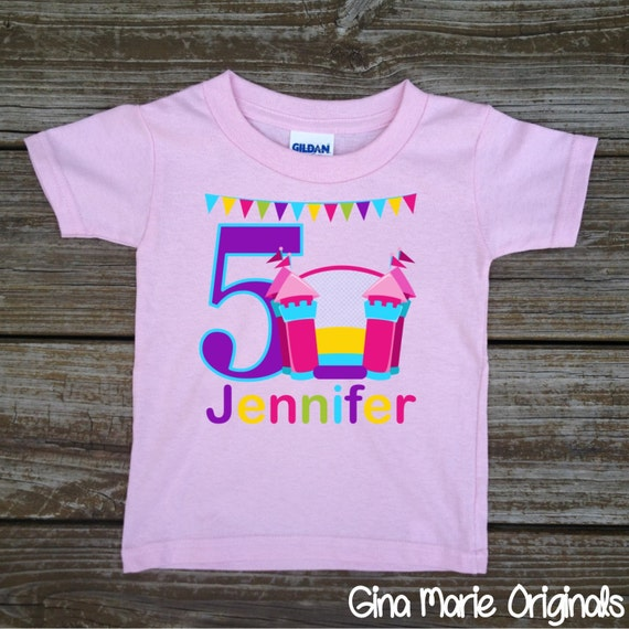 Personalizada rebote salto cumpleaños fiesta chica camiseta  41c24e8f1e825