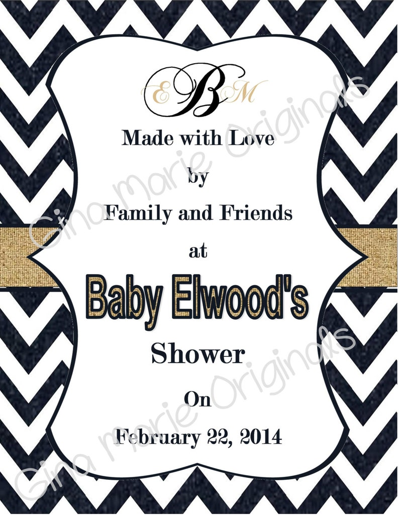 Unique Activity for Baby Shower Personlized Printable Dark Navy Denim and Burlap Baby Shower ABC/'s Activity Book Perfect Baby Keepsake