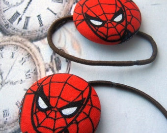 Spiderman Peter Parker Marvel Comics Fantasy Hair Elastic Hair Ties