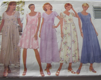 Butterick 5927 Pattern Misses'/Misses' Petite Dress / Summer Casual Dress /8-10 Size Vintage 1998