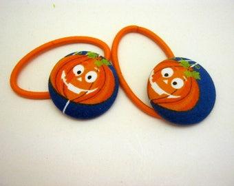 Jack O Lanterns Pumpkins Hair Elastic Hair Ties-Gift Halloween