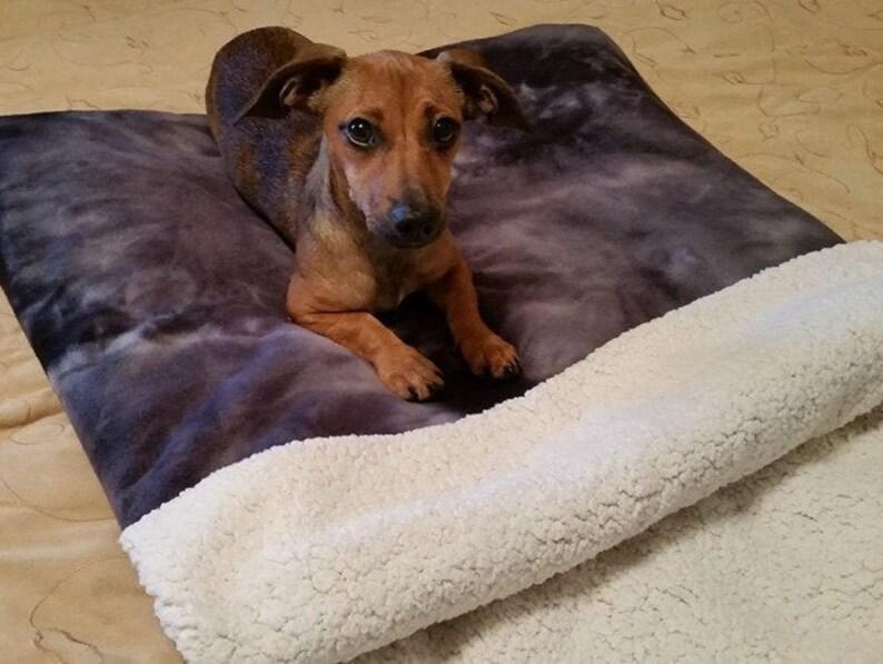 Dog Burrow Bag, Dog Bed, Dog Blanket, Black Heart Dog Bed, Fleece Dog Bed,  Dog Snuggle Sack, Cat Bed, Cat Cave, Cat Snuggle Bed, Cat Blanket