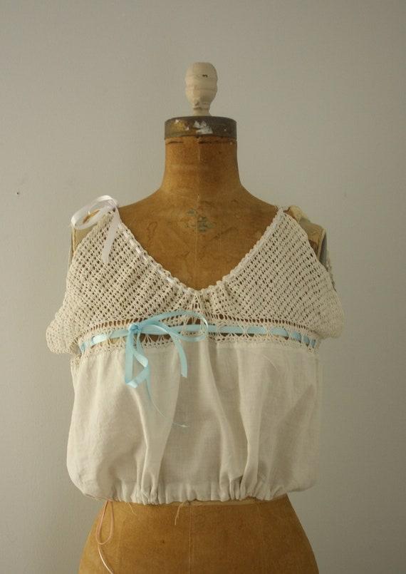 1900s corset cover | vintage edwardian camisole