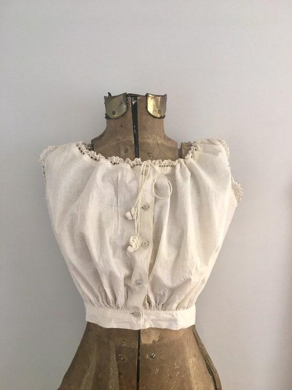 1910s corset cover | vintage cotton camisole