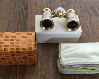 Vintage Opera Glasses 1960s Mother of Pearl Jason Model 180 3X Theater Glasses Opera Specs Bird Watcher Binoculars Collectible Sport Viewer