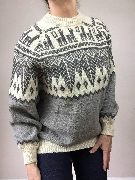 Vintage Cowichan Sweater 1940s Puff Sleeve winter