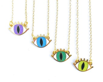 SMALL EYE NECKLACE - choose your color