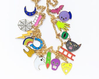 UNLUCKY CHARMS NECKLACE