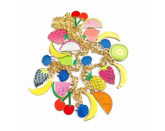 FRUIT CHARMS NECKLACE
