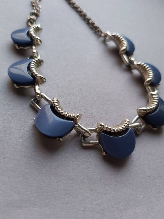 50's Thermoset Earrings Necklace Bracelet set, de… - image 5