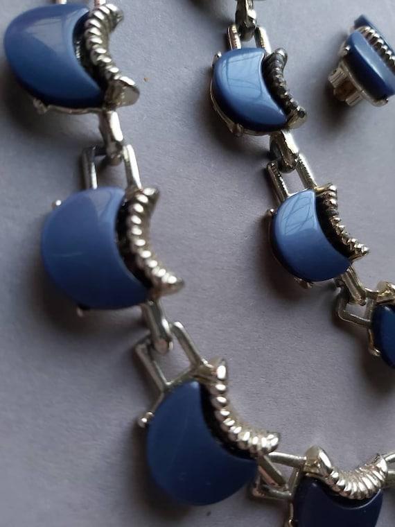50's Thermoset Earrings Necklace Bracelet set, de… - image 3