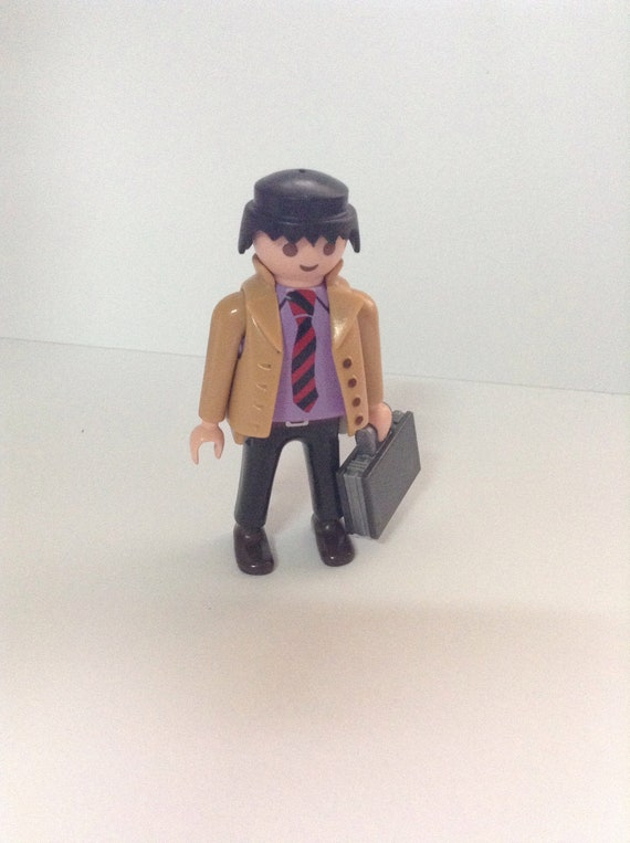 100% authentique haut fonctionnaire les clients d'abord 90 ' s Playmobil Geobra figure, homme d'affaires, costume ...