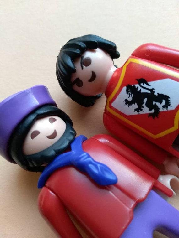1993 Playmobil Geobra Figuren, asiatisch, 2er set, Hut, Drachen, Vintage Spielzeug, Original, Sammlerstück, Griechenland