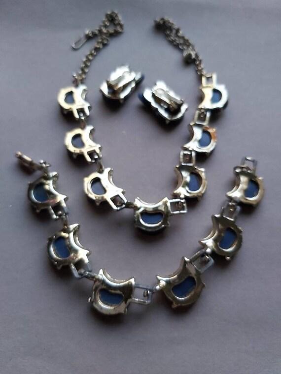 50's Thermoset Earrings Necklace Bracelet set, de… - image 9