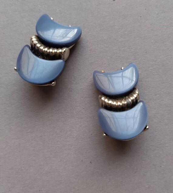 50's Thermoset Earrings Necklace Bracelet set, de… - image 6