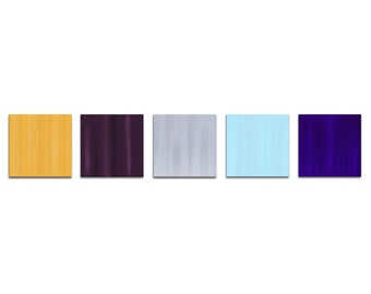 Colorful Multi Panel Art 'Dazzle' Contemporary Painting Metal Giclee, Pastel Abstract Home Accents, Coastal Artwork Modern Office Decor