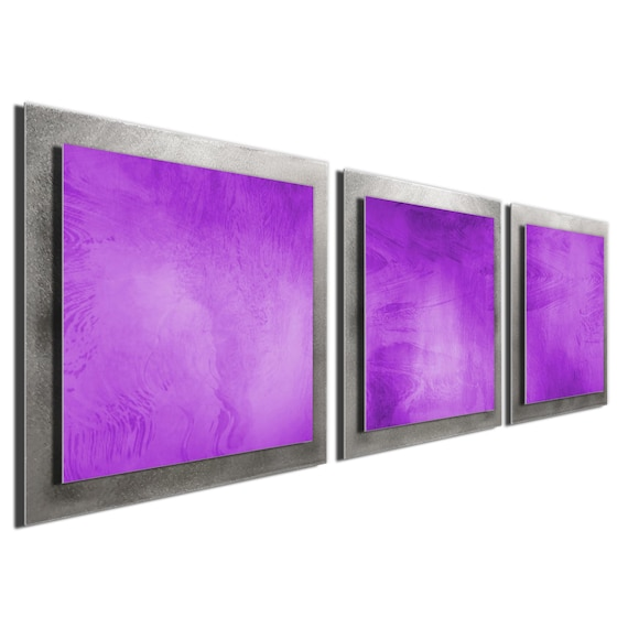 Colorful Modern Metal Wall Art Rainbow Contemporary Décor Abstract Accent Pieces