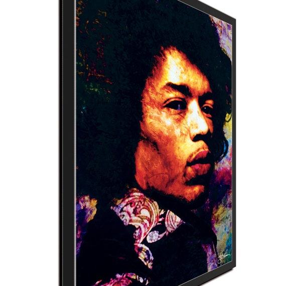 "Jimi Hendrix /""Imagination Key/"" Pop Art Giclee metal print by Mark Lewis"