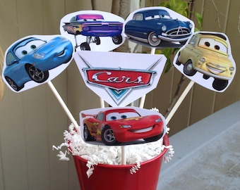 1 cars centerpiece disney inspired cars party decorations lightning mcqueen mater sally
