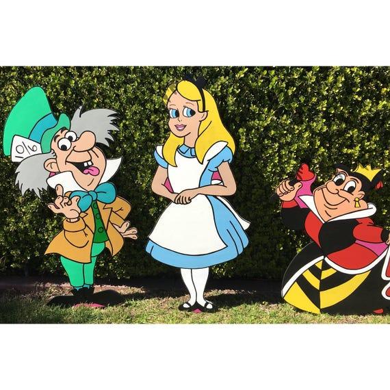 Alice im wunderland ac holz alice party deko alice im etsy - Alice im wunderland deko ...