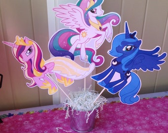 My Little Pony Centerpiece - Rainbow Dash - Pinky Pie - Apple Jack - My Little Pony Birthday Decoration
