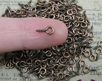 100 pcs Antique Copper Screw Eyes 8mm x 4mm SHIPS FROM FLORIDA
