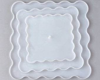 3 Layer Fruit Tray  SILICONE MOLD,, shiny mold, UV Resin Mold