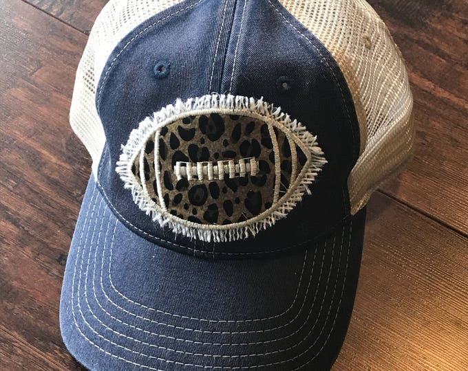 Shabby chic football hat