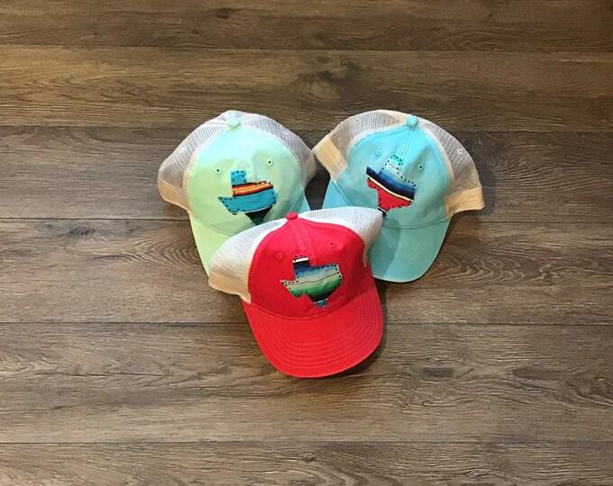 Hand stitched serape Texas hat