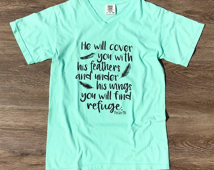 He will cover you with his feathers Psalm 91:4 shirt