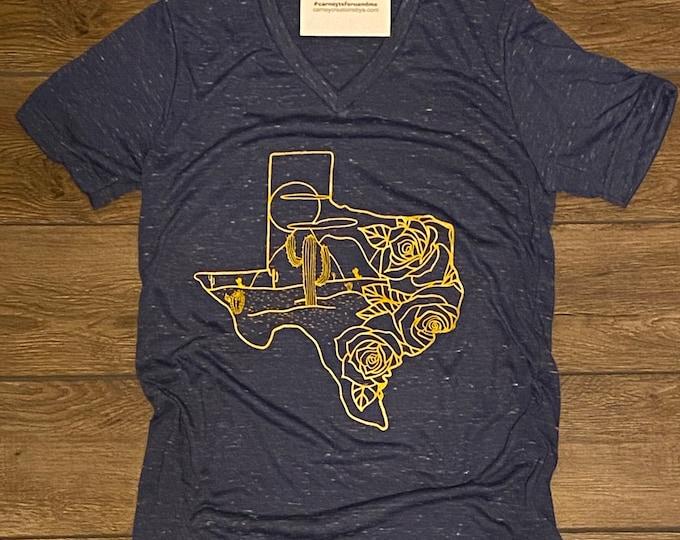 Texas rose graphic tee