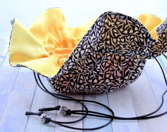Bijoux de sac / mariée / jeune / pochette en noir et blanc bijoux / vous choisissez l'intérieur doublure de couleur