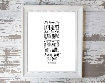 Anne of Green Gables Quote Print