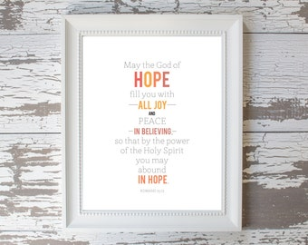 Abound in Hope Print