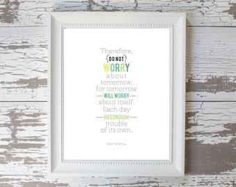 Do Not Worry Print